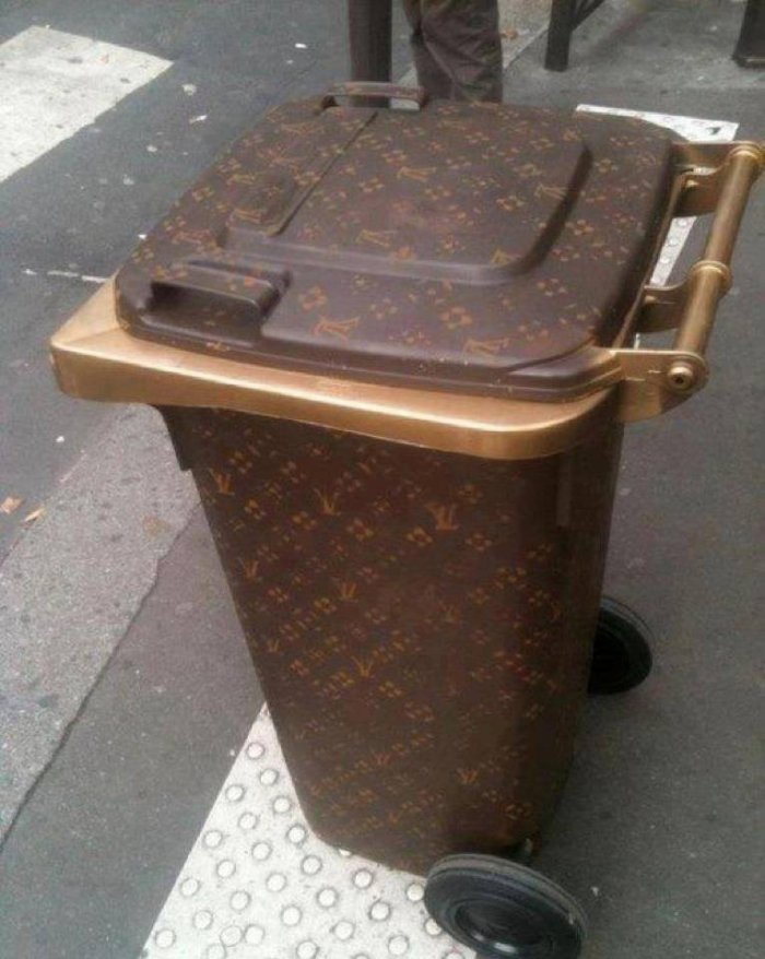 Louis Vuitton Garbage Bin
