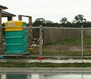 toilet and fence